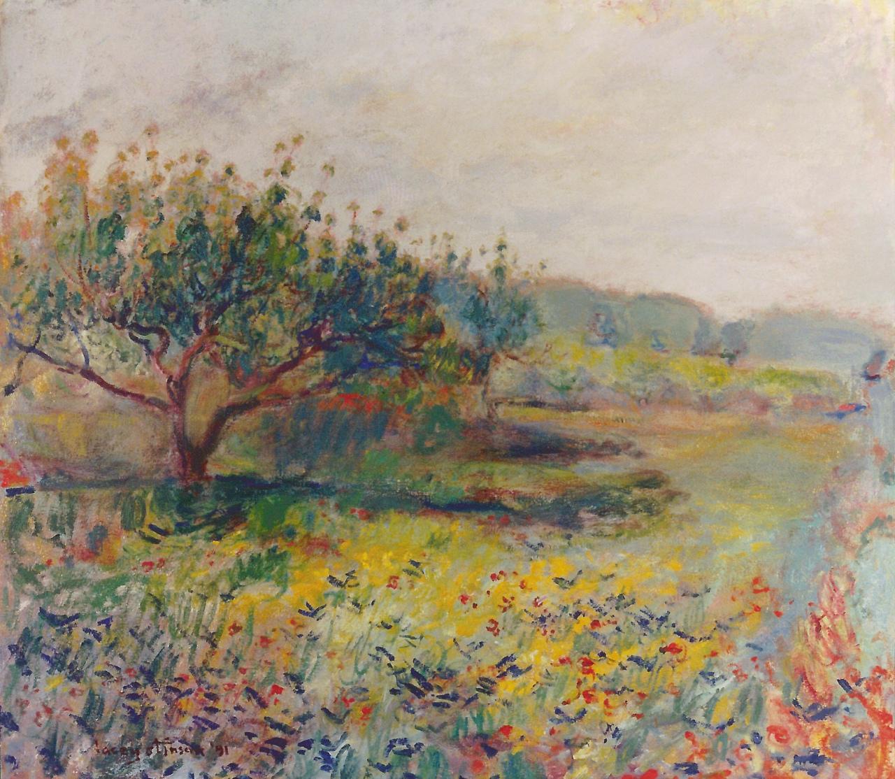 Odom Peach Tree and Grass