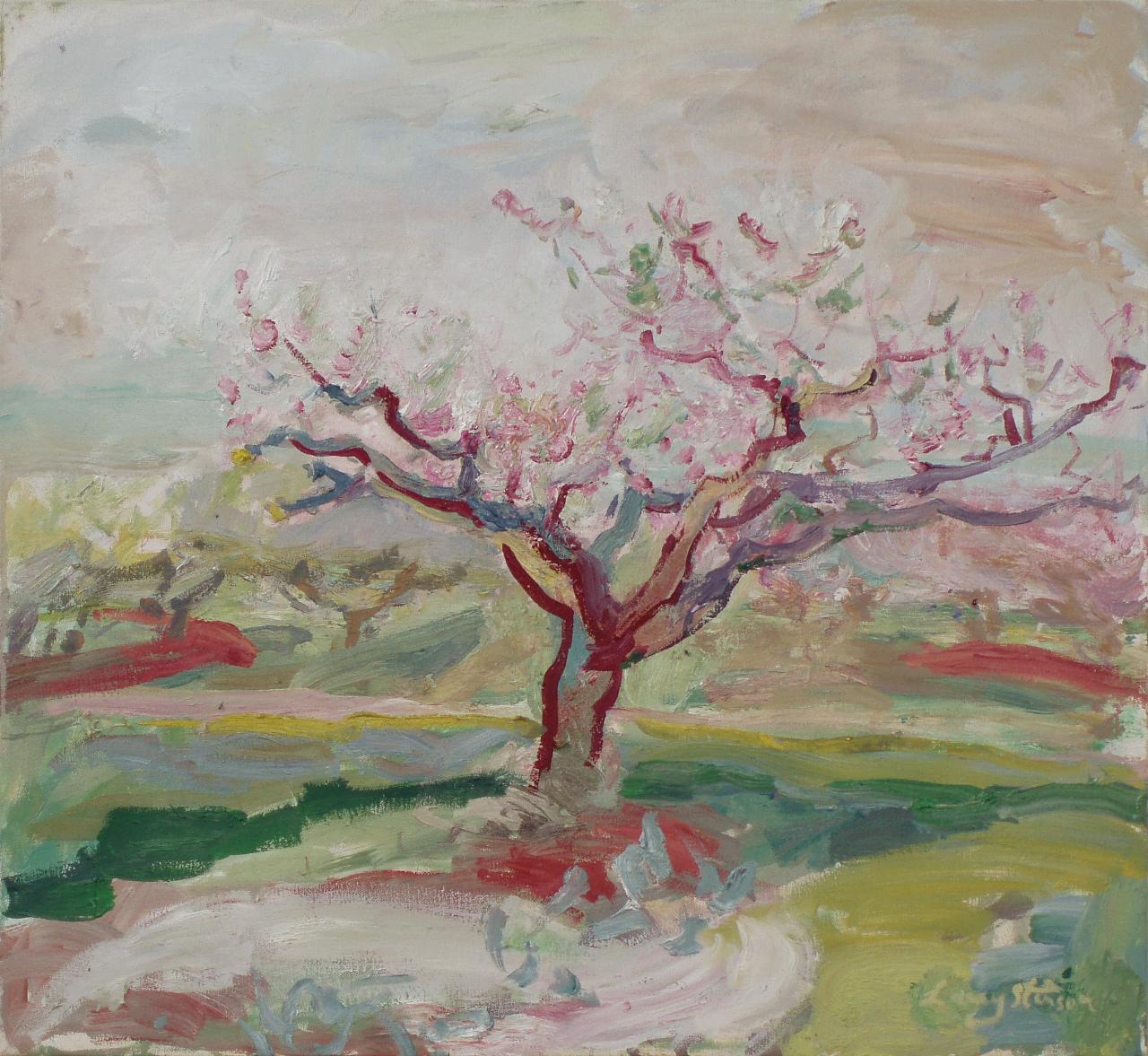Peach Tree in Bloom Sketch