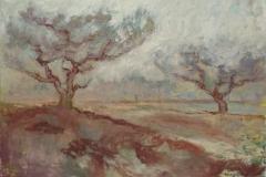 Brown Peach Trees