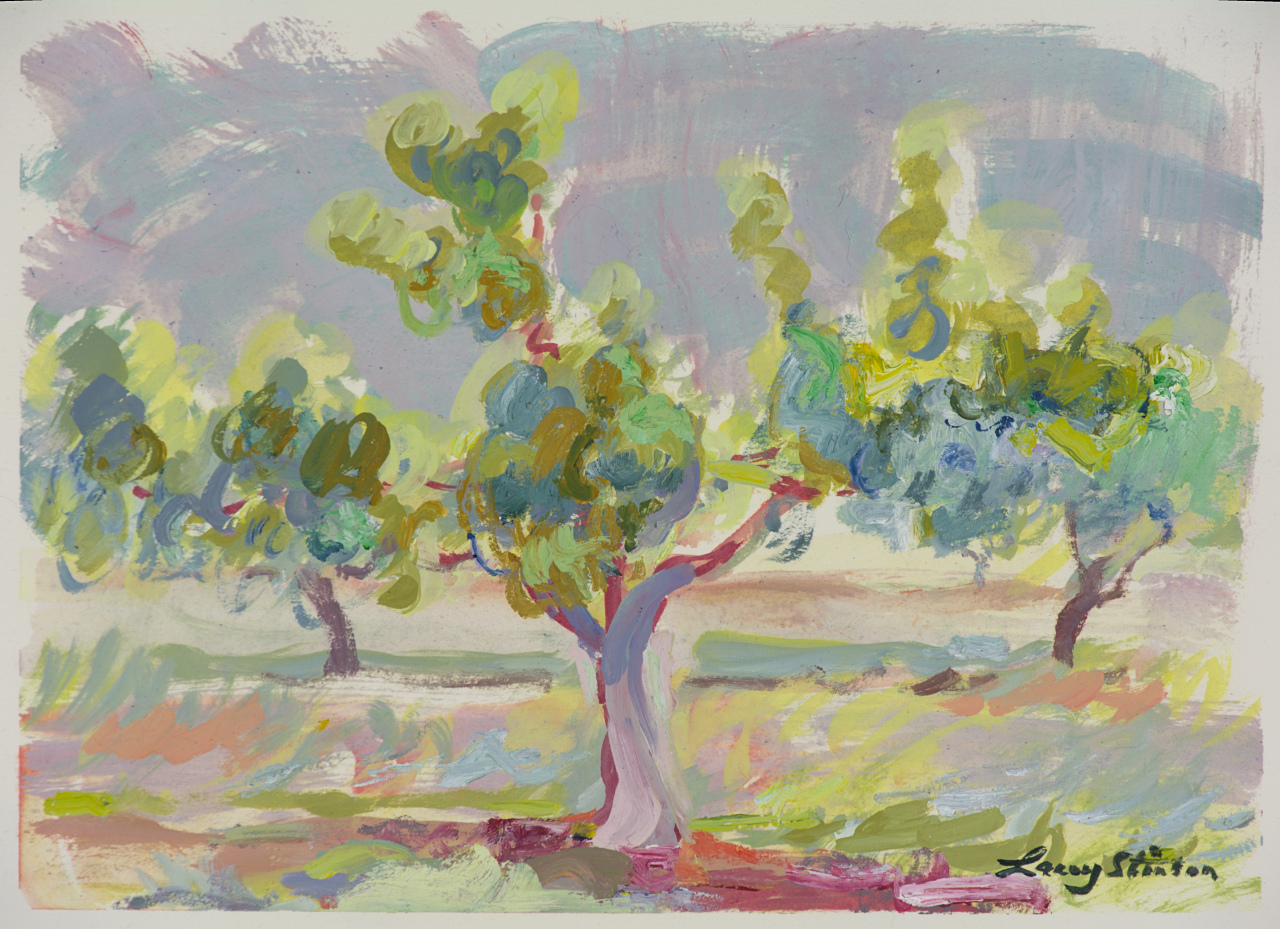 Peach Tree in Upper Orchard - Study 1