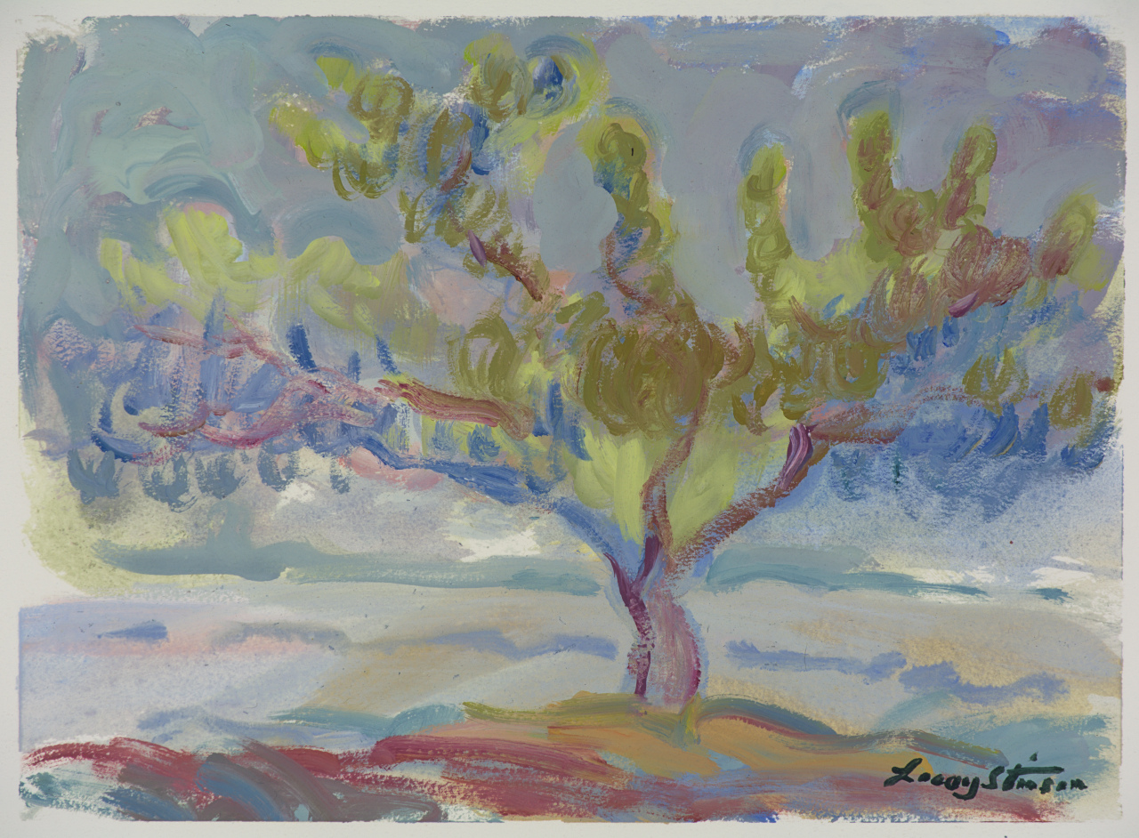 Peach Tree in Upper Orchard - Study 2