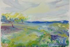 Mitcham Orchard with Pole - Study