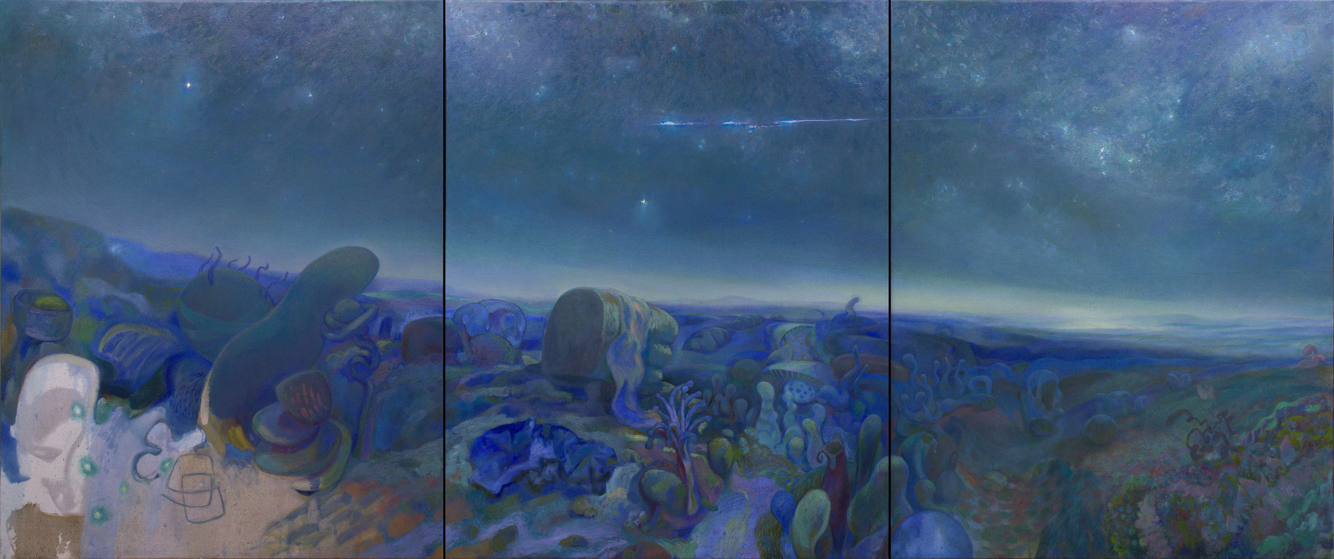 Small Worlds Triptych