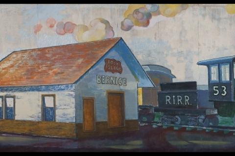The Bernice Railroad Depot